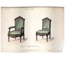 Le Garde Meuble Desire Guilmard 1839 0297 High Style Seat Furniture Interior Design Poster