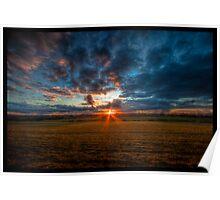 Sunset Fields Poster