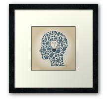 Head of hands3 Framed Print