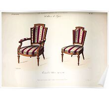 Le Garde Meuble Desire Guilmard 1839 0155 High Style Seat Furniture Interior Design Poster