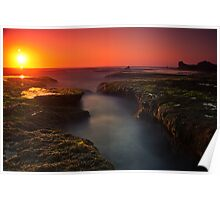 Sunset at Sphinx Rock Poster