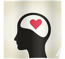 Heart in a head Poster