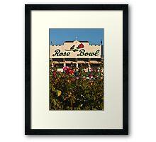 The Rose Bowl Framed Print