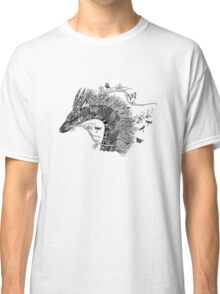 Haku The River Spirit Black and White Doodle Art Classic T-Shirt