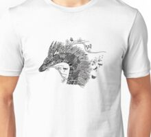 Haku The River Spirit Black and White Doodle Art Unisex T-Shirt