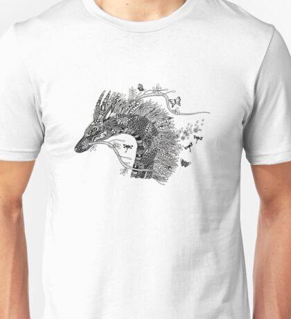 Haku The River Spirit Black and White Doodle Art Unisex T-Shirt