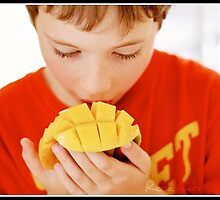 The boy loves his summer Mangos by Rosebuds