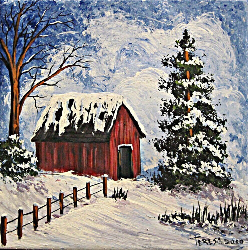 Winter Barn by teresa731