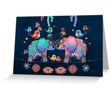 Elephant Yoga Greeting Card