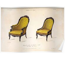 Le Garde Meuble Desire Guilmard 1839 0095 High Style Seat Furniture Interior Design Poster