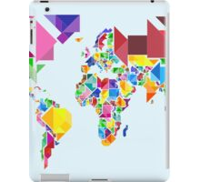 Tangram Abstract World Map iPad Case/Skin