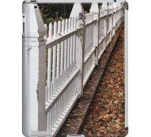 White Picket Fence iPad Case/Skin