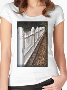 White Picket Fence Women's Fitted Scoop T-Shirt
