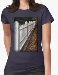 White Picket Fence Womens Fitted T-Shirt