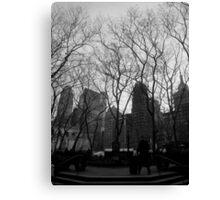city trees. union square, nyc Canvas Print