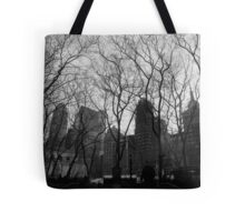 city trees. union square, nyc Tote Bag