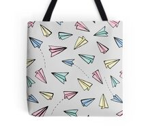 Paper Planes in Pastel Tote Bag