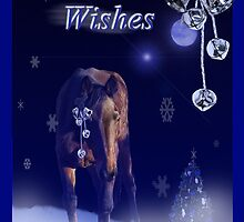 Christmas Wishes in a shining blue light by Michele Simon