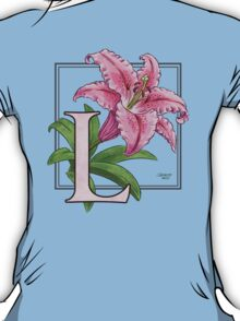 L is for Lily - full image shirt T-Shirt