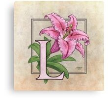 L is for Lily Canvas Print