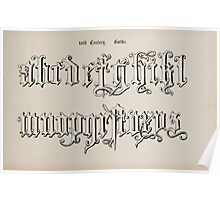 The Signist's Book of Modern Alphabets Freeman F Delamotte 1906 0177 Sixteenth 16th Century Gothic Poster