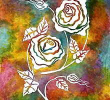White Roses - A statement piece by Lisa Frances Judd~QuirkyHappyArt
