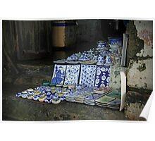 Ceramics Shop in Hoi An Poster