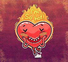 Cute Burning Heart for Valentine's Day by Voysla