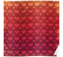 Love Red Pattern Poster