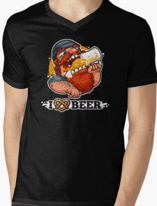 Man Loves Beer Mens V-Neck T-Shirt