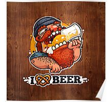 Man Loves Beer Poster