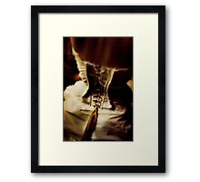 corset dress Framed Print