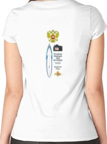 Russian Federation of Surf Photographers White Hoodie Women's Fitted Scoop T-Shirt