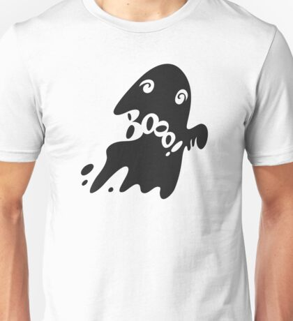 Halloween Card with Spooky Boo! Unisex T-Shirt