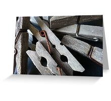 Wooden Clothes Pegs Greeting Card