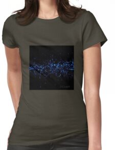 Blue Pixels Sparks Womens Fitted T-Shirt