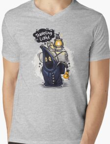 Traveling Light Cartoon Character Mens V-Neck T-Shirt