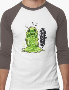 Cartoon Nausea Monster Men's Baseball ¾ T-Shirt