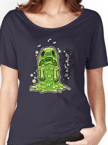 Cartoon Nausea Monster Women's Relaxed Fit T-Shirt