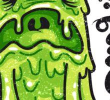 Cartoon Nausea Monster Sticker