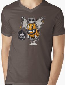 Cartoon Monster I'll Bee Bat Mens V-Neck T-Shirt