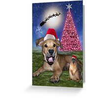 I Hear Santa Coming!!!! Greeting Card