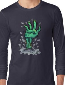 Cartoon Zombie Hand Long Sleeve T-Shirt
