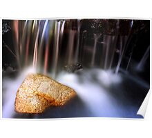 Streaked waterfall Poster