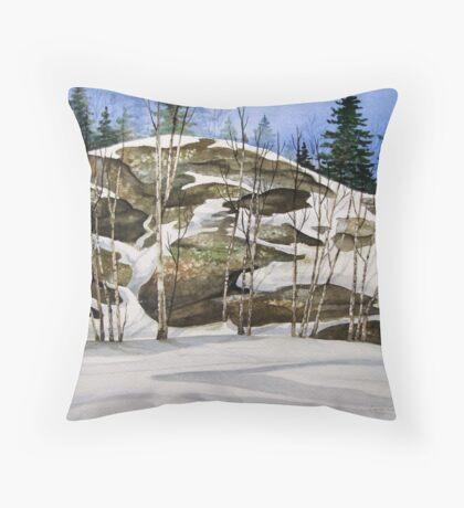 Rock Face at Heron Bay turn off - Heron Bay Ontario Canada Throw Pillow