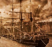 Tall Ship. by Irene  Burdell