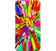 Dahlia Psychedelic Red Abstract iPhone Case/Skin