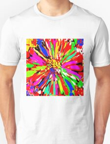 Dahlia Psychedelic Red Abstract T-Shirt