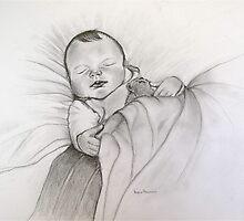 Baby Noah  sleeping   by vickimec