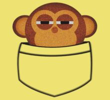 Pocket monkey is highly suspicious Kids Clothes